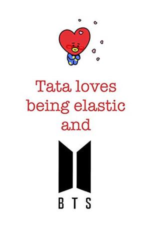 Tata loves being elastic and BTS: Notebook for Fans of BTS, Jungkook, K-Pop and BT21 (BTS_EN)