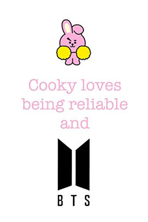 Cooky loves being reliable and BTS: Notebook for Fans of BTS, Jungkook, K-Pop and BT21 (BTS_EN)