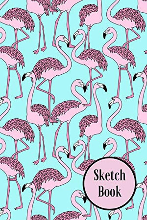 """Sketch Book: Flamingo; 100 sheets/200 pages; 6"""" x 9"""""""