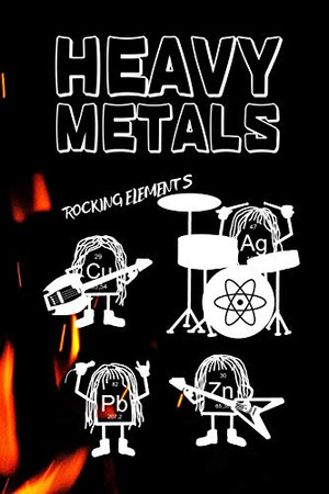 Heavy Metals - Rocking Elements Band: Guitar tab sheet Notebook / Logbook for Nerd science physics chemistry Metalheads - 6x9 inches (~DIN 5), 100 Pages