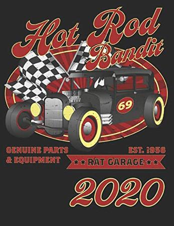 "Personal Organizer ""Rock Hot Bandit"": Terminplaner, organiseur personnel, organizador personal, agenda for 2020"
