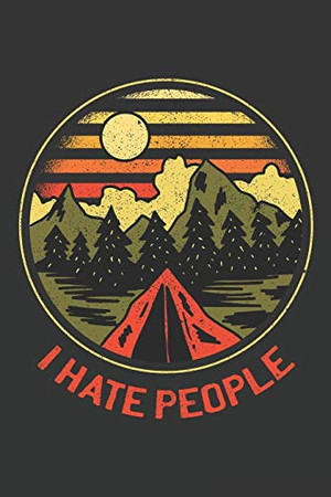 I hate people: Papgergames Hangman (6x9 Inches) with 120 Pages