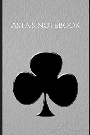 Asta's notebook for black bulls lovers from black clover anime