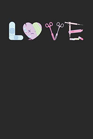 LOVE: Notebook A5 for Anime Merch, Yami Kawaii and Pastel Goth Lover I A5 (6x9 inch.) I Gift I 120 pages I College Ruled - 9781674477251