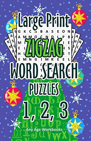 Large Print Zigzag Word Search Puzzles 1, 2, 3