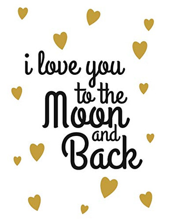 I Love You to the Moon and Back: Valentine's Day Notebook