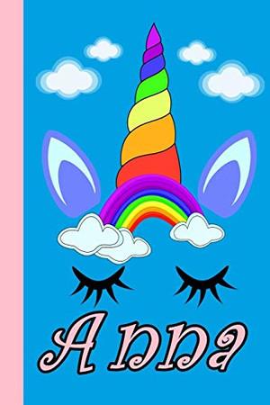 Anna Sketchbooks Personalized Unicorn Sketchbook For Girls With Pink Name: Personalized Unicorn Sketchbook For Girls With Pink Name . Doodle, Sketch, Create!