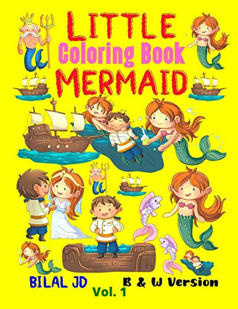 Little Mermaid Coloring Book: Coloring Books For 2 Years Old