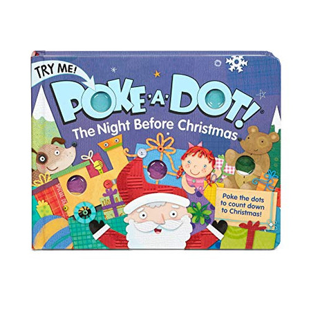Melissa & Doug Children's Book - Poke-a-Dot:The Night Before Christmas (Board Book with Buttons to Pop)