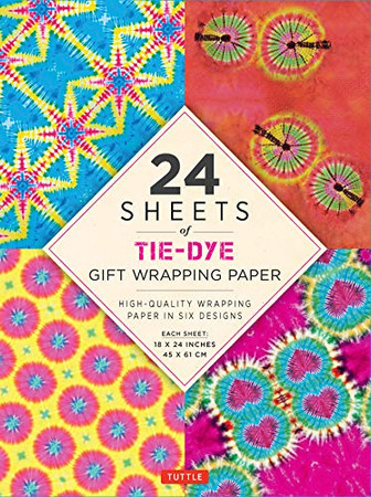 """24 sheets of Tie-Dye Gift Wrapping Paper: High-Quality 18 x 24"""" (45 x 61 cm) Wrapping Paper"""