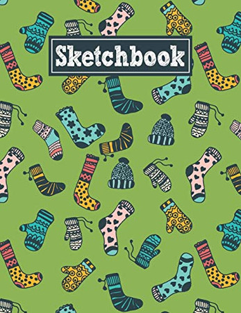 Sketchbook: 8.5 x 11 Notebook for Creative Drawing and Sketching Activities with Warm Clothes Themed Cover Design