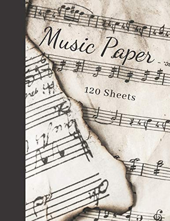 Music Paper: 120 Sheets