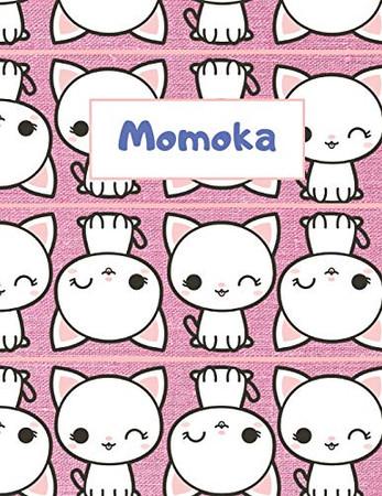 Momoka Personalized Genkouyoushi Notebook: Japanese Practice Book, Genkouyoushi Paper 8.5 x 11 110 Pages (Genkouyoushi Notebooks)