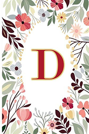 D: Cute Initial Monogram Letter D To Do List Notebook