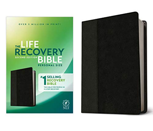 NLT Life Recovery Bible, Second Edition, Personal Size (LeatherLike, Black/Onyx)