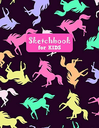 Sketchbook for Kids: Pretty Unicorn Large Sketch Book for Drawing, Writing, Painting, Sketching, Doodling and Activity Book- Birthday and Christmas ... Teens and Women - Nathalie Modern Press # 026