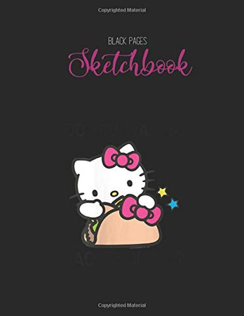 Black Paper SketchBook: Thats Not Sweat Im Leaking Awesome Sauce Designed BLACK PAPER Sketch Book for Drawing Sketching and Writing With Black Pages   ... Workout Marble Size Kawaii Kitty 8.5inx11in