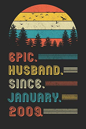 Epic Husband Since 2009: Composition Notebook   11th Wedding Anniversary Gift for Him.