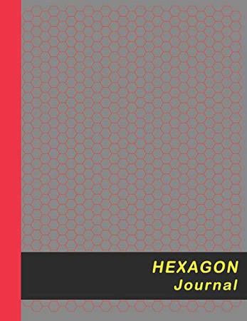 Hexagon Journal: Small 0.2� Hexes Hexagonal Graph Paper - Red (Honeycomb Paper Notebook)