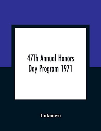 47Th Annual Honors Day Program 1971