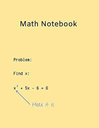 Funny Math Homework Notebook