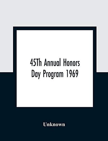 45Th Annual Honors Day Program 1969