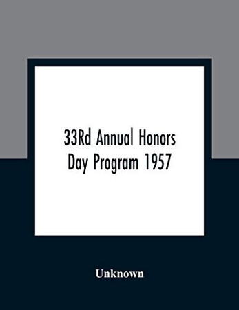 33Rd Annual Honors Day Program 1957