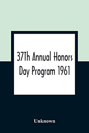 37Th Annual Honors Day Program 1961