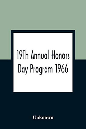 19Th Annual Honors Day Program 1966