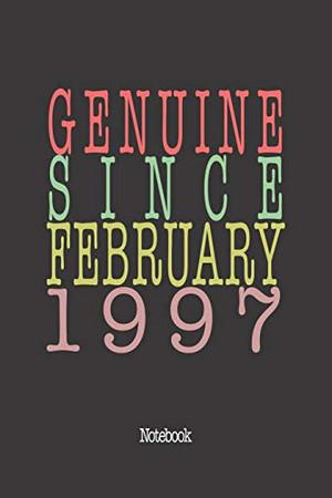 Genuine Since February 1997: Notebook
