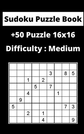 Sudoku Puzzle Book  sudoku: Difficulty : Medium sudoku / puzzles16x16 game, 100 Pages, 5x8, Soft Cover, Matte Finish