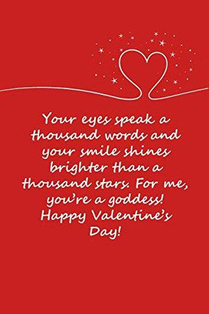 Valentines day gifts : Your eyes speak a thousand words: Notebook gift for her |Valentines Day Ideas For girlfriend | Anniversary | Birthday