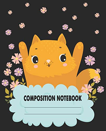 Composition Notebook: Cute & Adorable Cat Themed Wide Ruled Composition Notebook For All Cat Lovers