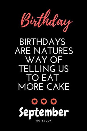 September birthday notebook | Amazing birthday notebook with black cover