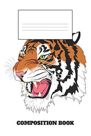 Composition Book: Sumatran Tiger Composition Book Wide Ruled