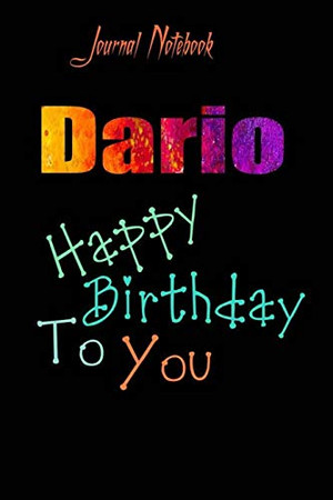 Dario: Happy Birthday To you Sheet 9x6 Inches 120 Pages with bleed - A Great Happy birthday Gift