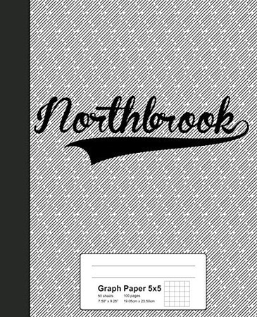 Graph Paper 5x5: NORTHBROOK Notebook (Weezag Graph Paper 5x5 Notebook)