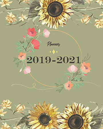 2019-2021 Planner: Sun Flower Cover for Monthly Schedule Organizer 36 Months Calendar Agenda Planner with Holiday