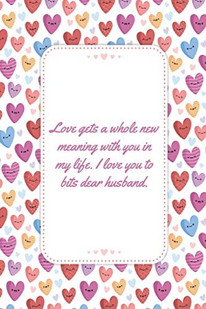 Love gets a whole new meaning with you in my life: This Notebook is A Perfect Watercolor Pink Floral Cover Wife Valentines Day Gifts Husband ... for Him from Wife From Husband From Wife.