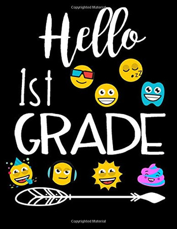 Hello 1st Grade: Composition Notebook Kids