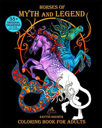 Horses of Myth and Legend: Coloring Book for Adults