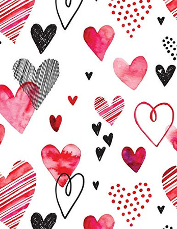 Valentine's Day Notebook: Cute Colored Hearts, Valentines Gift Idea for Girlfriend or Wife