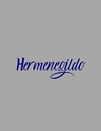 Hermenegildo: notebook with the name on the cover, elegant, discreet, official notebook for notes, dot grid notebook,