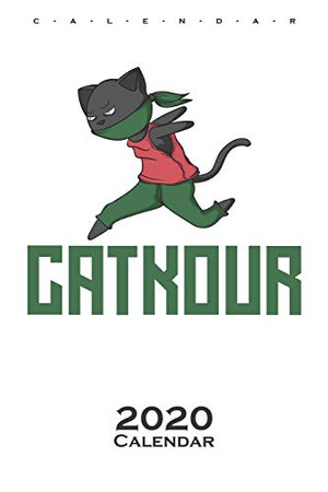 """Parkour with cat Catkour"""" Calendar 2020: Annual Calendar for Athletes and fitness enthusiasts"""