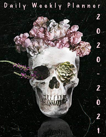 2 Year Planner 2020-2021 Daily Weekly Monthly: see it Bigger Large size Personal Appointment at a Glance Calendar Planner Spread Views 24 Months to Do ... 2021 Flower Sugar Skull Lover Cover Design