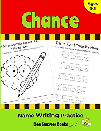Chance Name Writing Practice: Personalized Name Writing Activities for Pre-schoolers to Kindergartners
