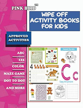 wipe off activity books for kids: wipe clean workbook pre-k scholastic early learners, Coloring, Dot to Dot, Shapes,letters,maze,mathematical maze, ... Pre-Reading, Big Workbook,and More