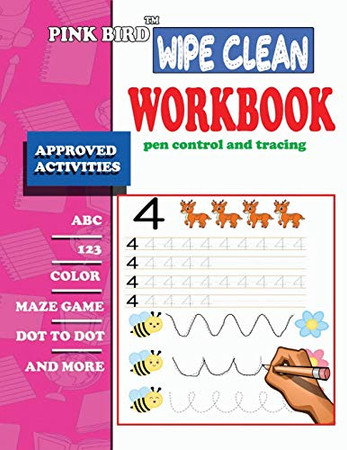 wipe clean workbook pen control and tracing: wipe clean workbook pre-k scholastic early learners, Coloring, Dot to Dot, letters,maze,mathematical ... Pre-Reading, Big Workbook,and More