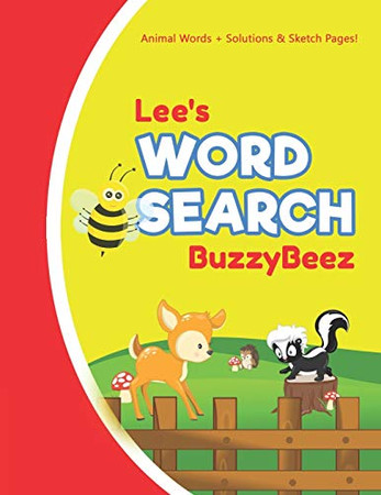 Lee's Word Search: Animal Creativity Activity & Fun for Creative Kids | Solve a Zoo Safari Farm Sea Life Wordsearch Puzzle Book + Draw & Sketch ... Letter Spelling Memory & Logic Skills