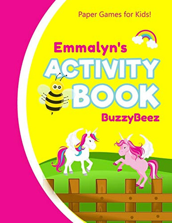 Emmalyn's Activity Book: 100 + Pages of Fun Activities   Ready to Play Paper Games + Storybook Pages for Kids Age 3+   Hangman, Tic Tac Toe, Four in a ... Letter E   Hours of Road Trip Entertainment